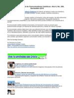Boletín Comunidad de Comunicadores Católicos 299
