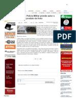 SiteBarra » Mantena_ Polícia Militar prende autor e recupera produto de fruto