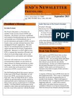 the friends newsletter september 2013 f