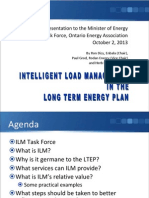 Intelligent Load Management in the Long Term Energy Plan