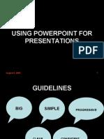 Power Point Presentation Skills