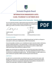 BHB Quarterly Report to the Community - October 2013