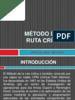 EXPOSICIÓN MÉTODO DE LA RUTA CRÍTICA