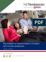 Équipement et branchement Internet des foyers québécois