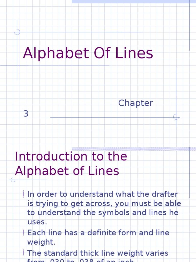 Alphabet of Lines | Shape | Dimension
