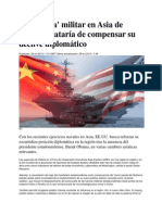 La 'jugada' militar en Asia de EE.UU. trataría de compensar su declive diplomático