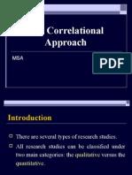 Correlational Approach Final Version