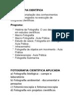 FOTOGRAFIA CIENTIFICA - assuntos