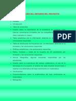 estructura del informe del proyecto