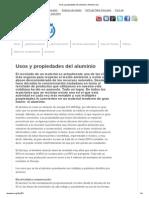 Usos y Propiedades Del Aluminio _ Aluminio