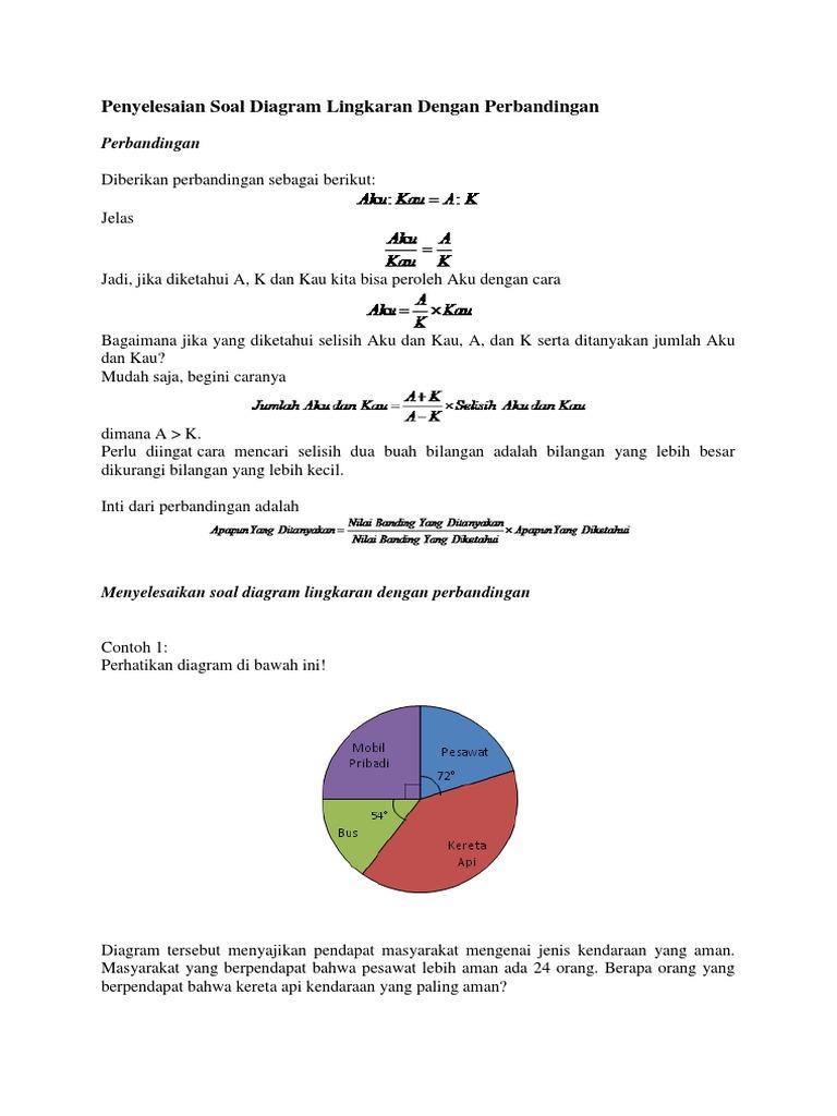 Penyelesaian soal diagram lingkaran dengan perbandingancx ccuart Images