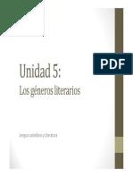 U5. Los géneros literarios (TEATRO)