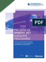 The UK Bribery Act 2010