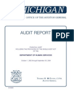18049373 Michigan Audit of Department of Human Services 2004