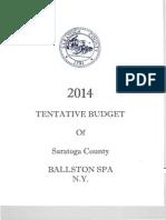 Saratoga County Tentative Budget