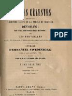 Em Swedenborg ARCANES CELESTES TomeSeizieme 2sur2 Exode XXXII XL Numeros 10386 10837 LeBoysDesGuays 1854