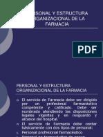 Personal y Estructura Organizacional de La Farmacia