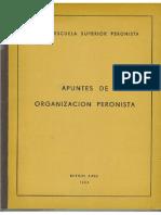 Escuela Superior Perionista Apuntes de Organizacion Peronista