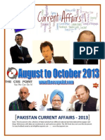 Pakistan Current Affairs - August to October 2013 - Latest Edition (The CSS Point)