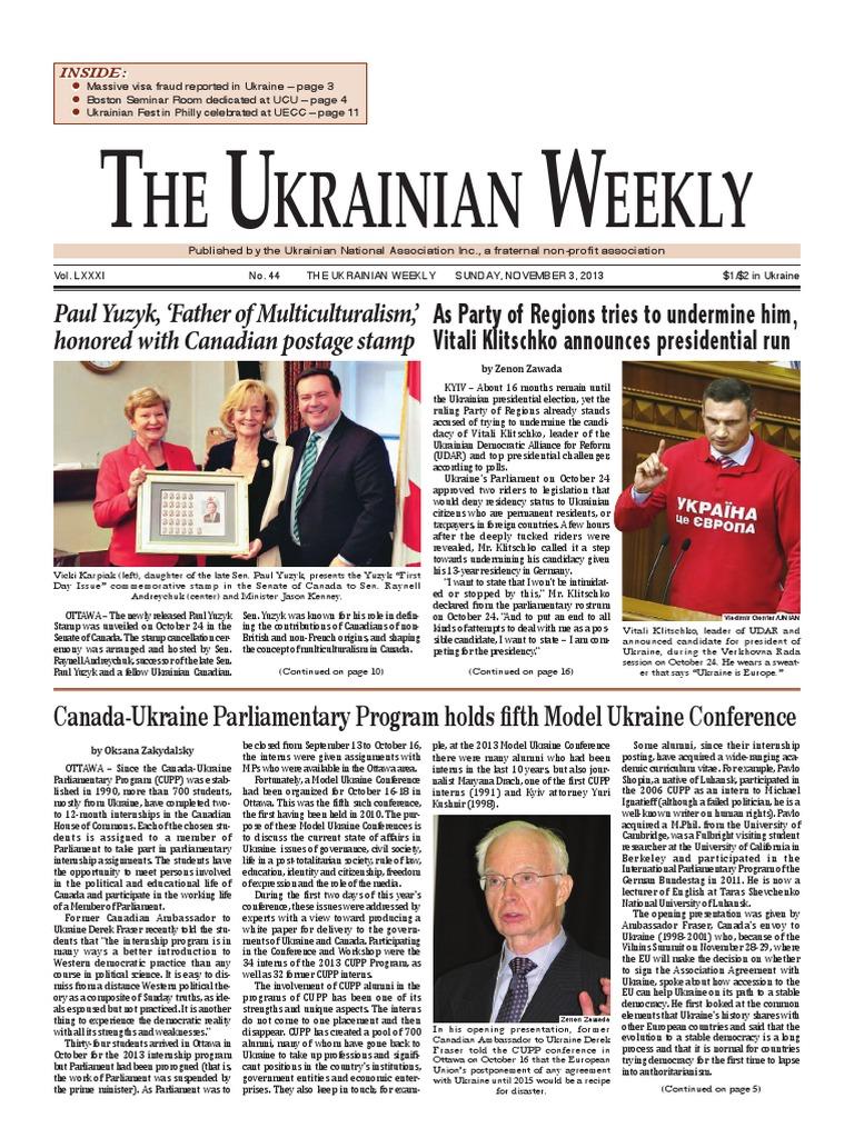 The Ukrainian Weekly 2013-44 | Crimea | Ukraine