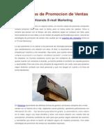 Estrategias de Promocion de Ventas - Email Marketing