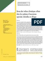 Sarr Et Al 2012 Revue Des Indices Climatiques Utilises Dans Les Assurances Agricoles