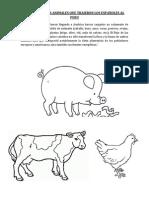 ALGUNOS DE LOS ANIMALES QUE TRAJERON LOS ESPAÑOLES AL PERU