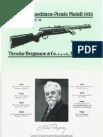 Bergmann Maschinen-Pistole Modell MP32 - BMP 32 - Handbuch
