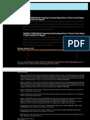 NAGRA 3 ROM 241 240 ATTACKING HACKING CRACKING NAGRAVISION 3 pdf