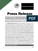 Black Wall Street International PRESS RELEASE