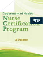 DOH Nurse Certification Program Primer