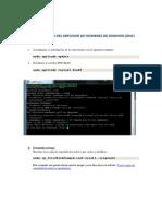 5.- Configuracion DNS