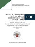 Fortificaciones y Poliorcética en época Bárcida Los ejemplos de Sicilia y la Península Ibérica