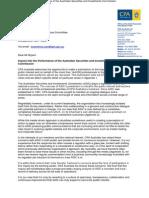 ASIC inquiry - CPA Australia submission