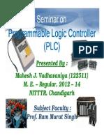 Seminar on Programmable Logic Controller (PLC)