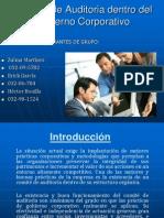Comites de Auditoria Dentro Del Gobierno Corporativo .