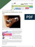 Musculação para adolescentes sim ou não - Fitness.pdf