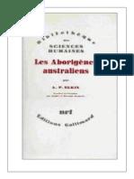 Adolphus Peter Elkin - Les aborigènes australiens
