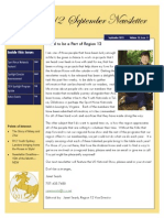 R12 Sept 2013 Newsletter