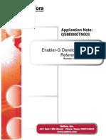 Enabler-G Development Board Reference