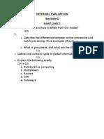 Internal Evaluation Section-d Good Luck!!