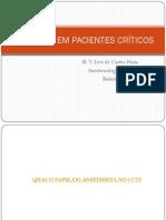 Abordagens Anestesicas Em Pacientes Criticos