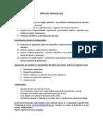Perfil Del Pedagogo - Convocatoria
