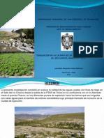Calidad Aguas Riego Ayacucho