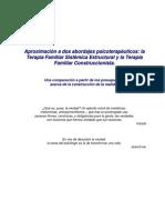 Aproximación a dos abordajes psicoterapeuticos- La Terapia Familiar Sistémica Estructural y la Terapia Familiar Construccionista
