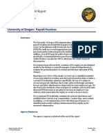 Audit into University of Oregon's payroll practices