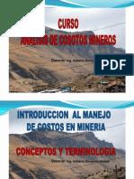 Clase 1 y 2 Costos Mineros UNT
