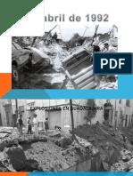 Explosiones 22 de Abril 1992