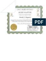 SAMPLE CERTIFICATE REIKI
