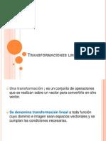 transformacciones lineales